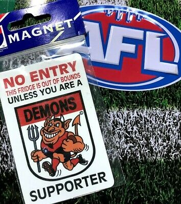 AFL Retro Melbourne Demons fridge magnet BNIP
