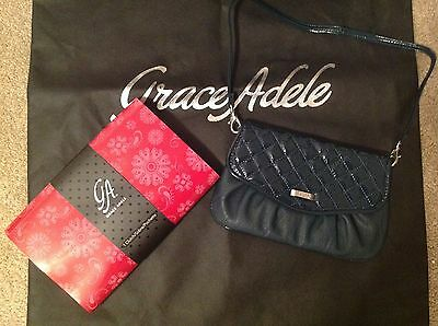 Brand New Grace Adele Elegant Jane Teal Clutch with tags on