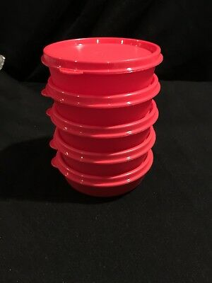 Tupperware Little Wonders Bowls Set of 5 -red New 6 oz