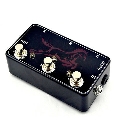 Hand Made Triple Effects Loop Pedal- 3 Looper Switcher Guitar Pedal HB-1
