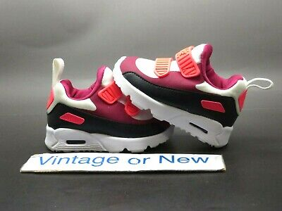 BABY GIRLS: NIKE Air Max Tiny 90 Shoes, Neon Pink & Black