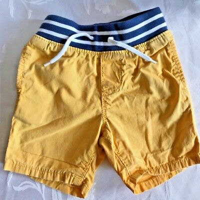 Gap Baby Boys Summer Short Yellow And Blue With Pockets Size Age 6-12 Months