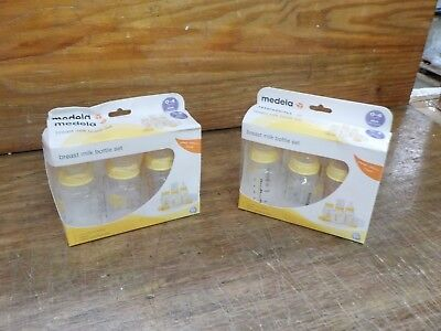 2 Sets Medela Breastmilk Bottle Set, 5 Ounce, 3 Count