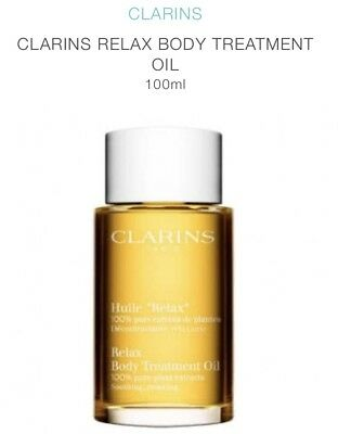 NEW Clarins Body Treatment Oil (Soothing & Relaxing) 3.4oz, 100ml Massage Oil