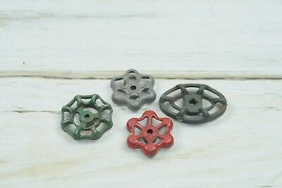 4 Vintage Water Valve Faucet Handles Knobs Steampunk  #3
