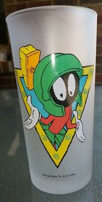 Marvin The Martian Frosted Glass Warner Bros 1998
