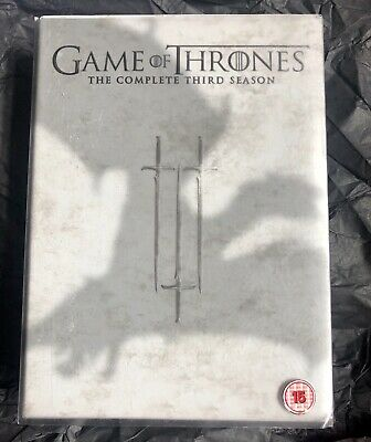 Game Of Thrones - The Complete Third Season DVD, 2014, 5-Disc Box Set 👑
