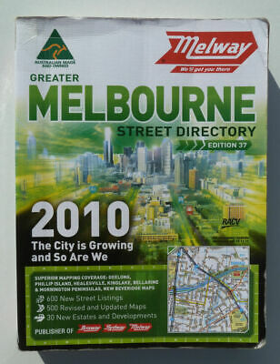 Street Directory Melbourne Melway 2010 Roads A to Z Index