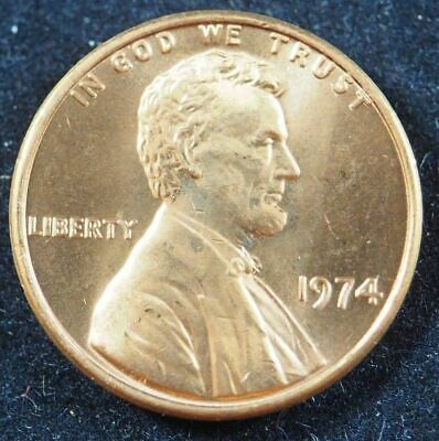 1974 P Lincoln Memorial Cent Penny (BU) Brilliant Uncirculated US Coin