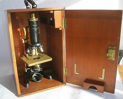 Watson & sons Service Microscope. Serial no: 73209. Carl Zeiss lens. Unrestored.