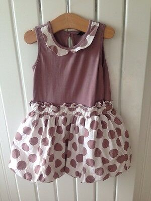 235ec8467 Baby Girls Clothes 12-18 Months - Brown Spotted Puff Ball Style Dress Cute!