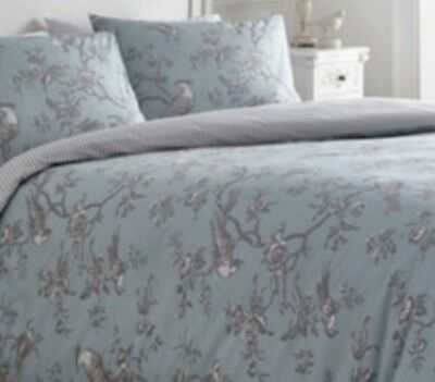 Debenhams Curious Bird Single Bed Duvet Set- Blue And Grey