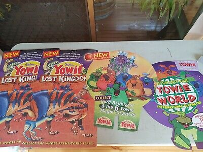 YOWIES Rare Posters, Calander & Yowie Power Book