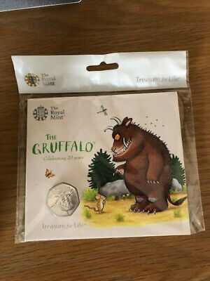 The Gruffalo 50p Coin Brilliant Uncirculated 2019 Royal Mint Pack Sealed