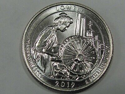 2019 P - Lowell National Historical Park Quarter Dollar