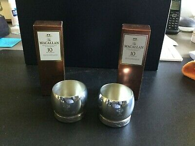 Macallan Giftset 2 miniaturen 10 years old sherry cask en 2 Quaich cups