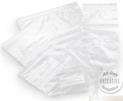 Grip Seal Self Resealable Bags White Writing Panels - Small Large Sizes/qtys