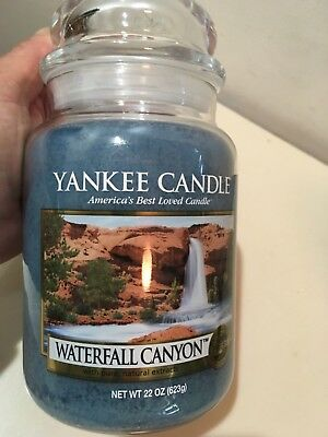 First Quality Yankee Candle Waterfall Canyon Lot of Two 22 OZ
