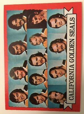 1973-74 Topps #95 California Golden Seals Team Hockey Card NM Condition