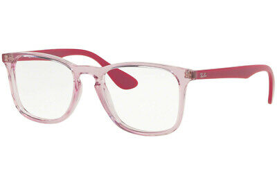 5148613728342 Ray Ban Women Eyeglasses Square RX7074 5863 50 Transparent Pink   Demo