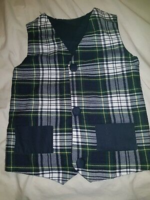 Boys 3-5 Reversible Vest, Cotton, Home Made
