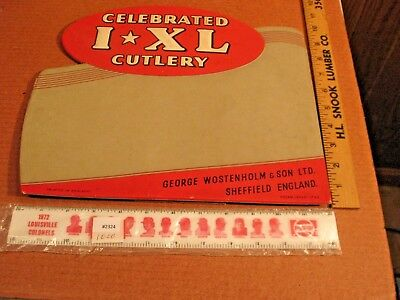 Vtg Celebrated IXL Cutlery GEORGE  WOSTENHOLM  KNIFE COUNTER SHOP SIGN England