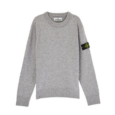 Stone Island Junior Sweatshirt In Pollen Yellow Crew Neck Long Sleeves 681660744
