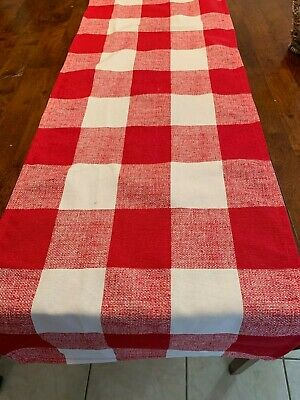 Red  and White Buffalo Check  Table Runner   Home Decor, Parties, Showers,