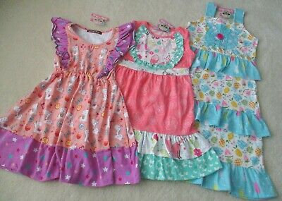 5e14ee10d9fe7 3 GIRL'S SIZE 5 Summer DRESSES ~ JELLY THE PUG ~ NWT - $31.00 | PicClick