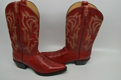 40f70a03d Shyanne Womens LEATHER RED Western COWGIRL RIDING Boot SZ 6.5 B Snip Toe  BBW63