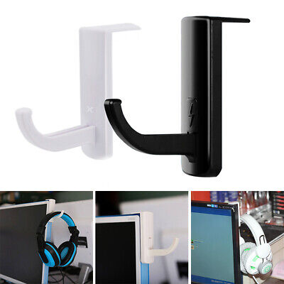 Internet Cafes Headphone Headset Hanger Holder Wall PC Monitor Stand Hook Sticky