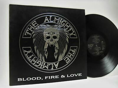 THE ALMIGHTY blood fire & love (1st uk press) LP EX/VG+ 841 347-1 vinyl, & inner