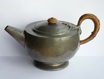 Archibald Knox Liberty Co Tudric Pewter Teapot (01216) 1 and 3/4 Pints