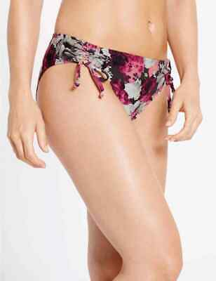 Marks & Spencer 'Floral' Bikini Bottoms - Various Sizes Available (15230)