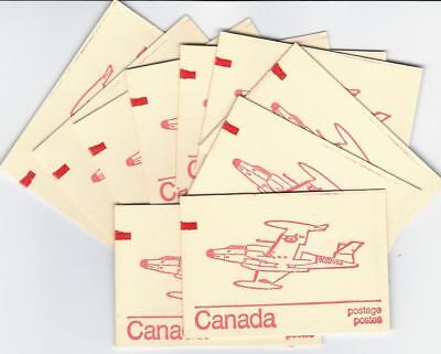 Canada, 1974 - TEN 25¢ Caricature Booklets #BK74, with 'Counter Mark'- CV $50.00