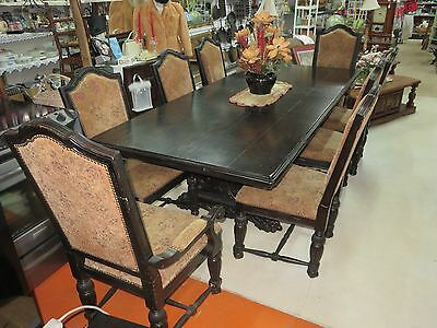 Gothic Dining Table and 8 Chairs