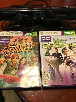 Xbox 360 Kinect plus 2 games Sports Adventures