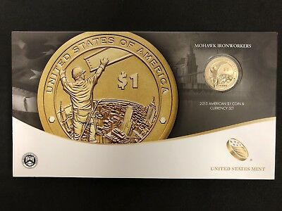 2015 P Native American Indian Dollar U.S Mint Coin Mohawk Iron workers Coins