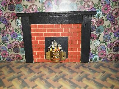 Triang Wooden Fireplace - dolls house