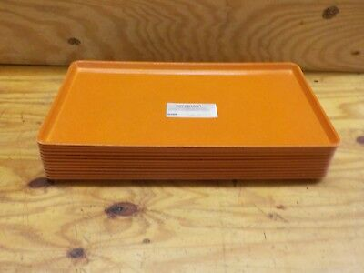 "Carlisle 1222LFG019 Fiberglass Glasteel Solid Low Edge Tray, 21""x12"", Rust"