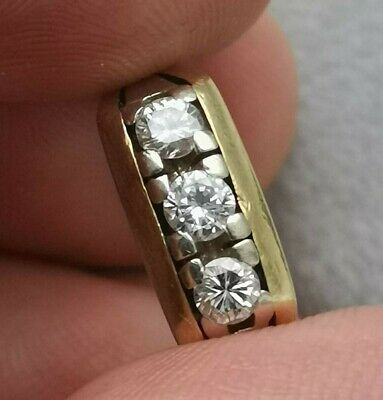 Ring Gold 585 Brillianten 5 Gramm Durchmesser 17mm Art Deco vintage Designer