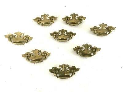 """8  Brass Drawer Pulls Vintage Chippendale Colonial Style 3 3/4"""""""