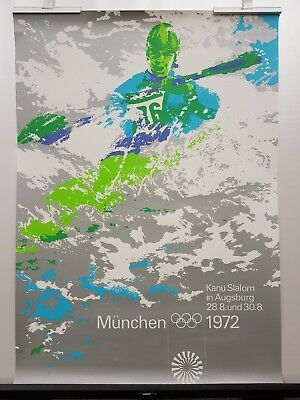 "Olympia Plakat (""Kanu"") Olympische Spiele 1972 München, DIN A1"