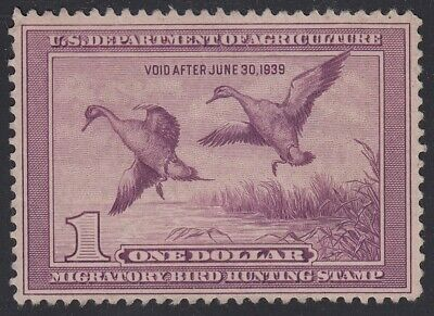 TDStamps: US Federal Duck Stamps Scott#RW5 $1 Unused NG CV$85.00