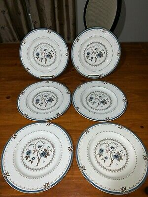 Royal Doulton Old Colony TC1005 English China - Dinner Plates - Set of 6