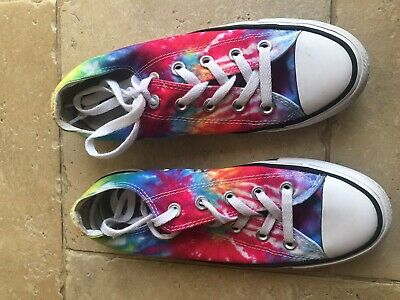 Unisex Multi Coloured Converse All Star Trainers Canvas UK size 4