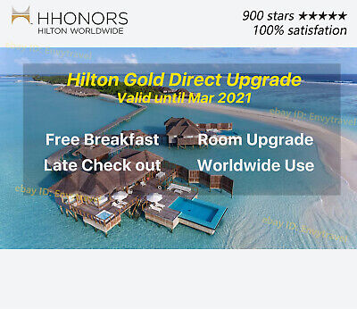 Hilton Direct Gold Status until Mar 2021 Free breakfast