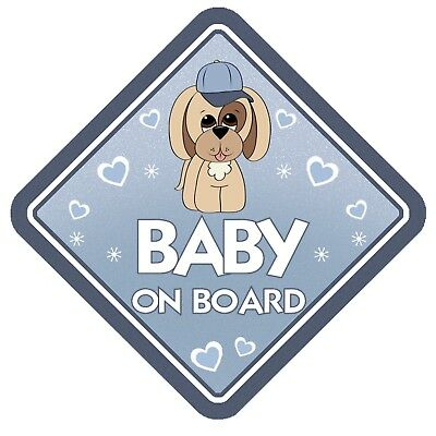 Puppy Dog Baby On Board  Non Personalised Car Window Sign