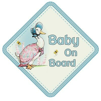 Jemima Puddle Duck Baby On Board Car Window Sign Non Personalised Beatrix Potter