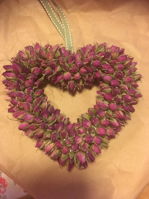 Chunky Dried Rosebud Heart